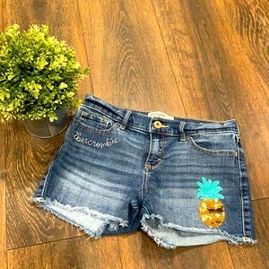 Abercrombie kids embroidered and beaded shorts